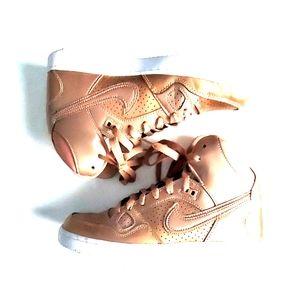 Nike Air Force Ones - Metallic Rose Gold Sz. 7